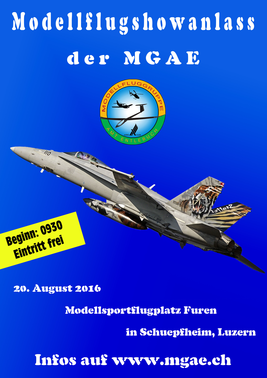 Flyer MGAE Showfluganlass 20.08.2016